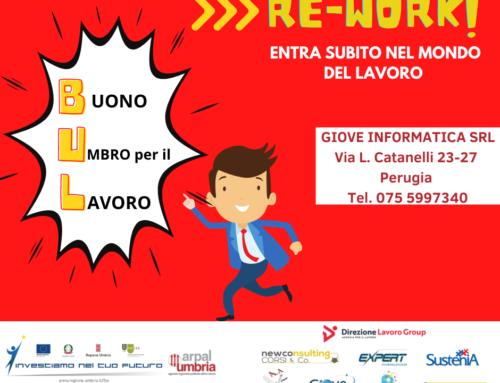 Avviso pubblico RE-WORK, richiedi il tuo BUL – Buono Umbro per il Lavoro – e accedi al mondo del lavoro in Umbria